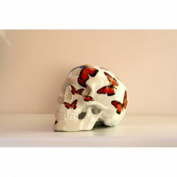 SKULL RED BUTTERFLY BY NooN